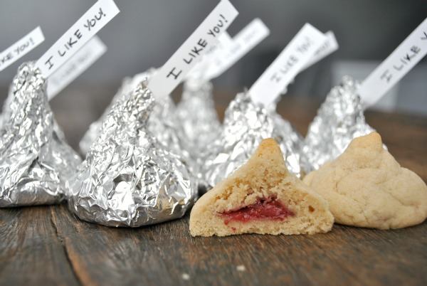 Peanut Butter and Jelly Kiss Cookies