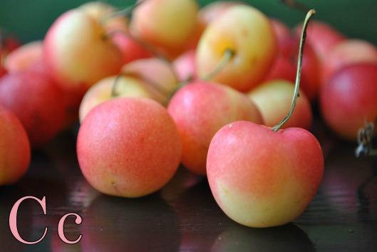 Cherries are cheerful!